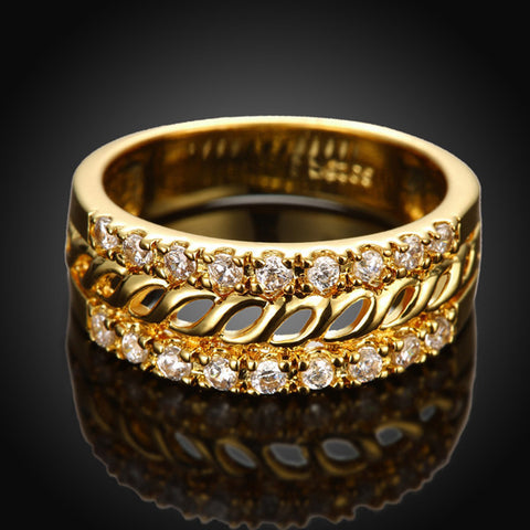 Gold Diamond Ring - Shevoila Jewelry & Clothing - 1