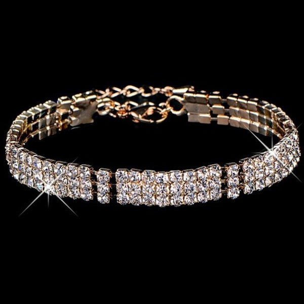Gold Diamond Bracelet - Shevoila Jewelry & Clothing - 1
