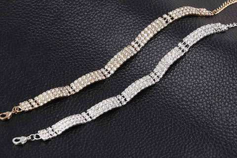 Gold & Silver Crystal Bracelet - Shevoila Jewelry & Clothing - 1
