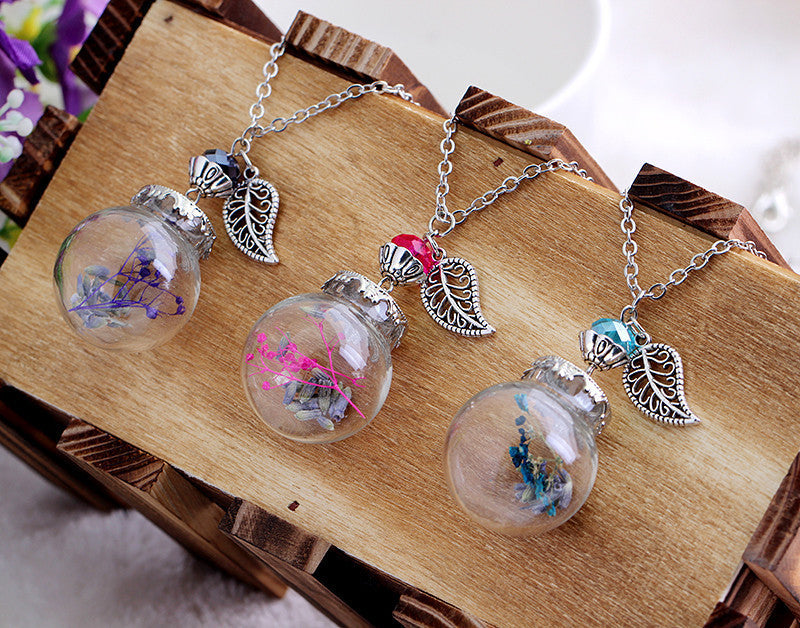 Flower Bottle Necklace - Shevoila Jewelry & Clothing - 1
