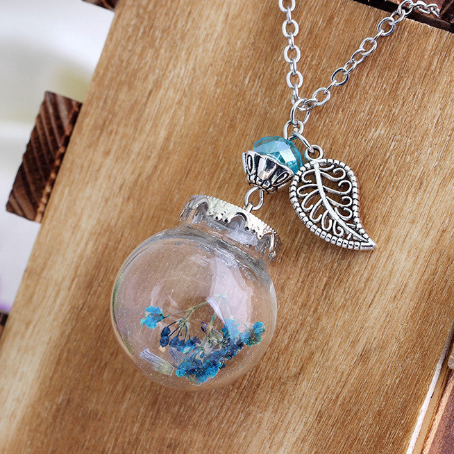 Flower Bottle Necklace - Shevoila Jewelry & Clothing - 5