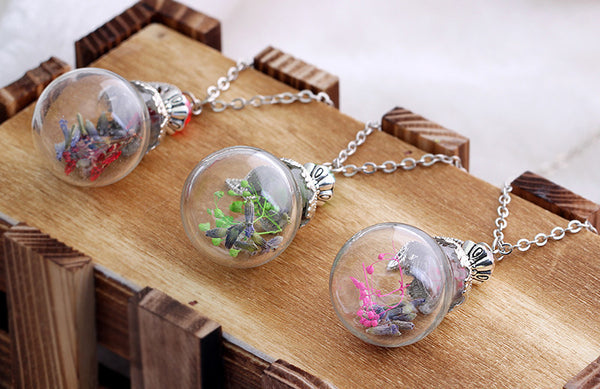 Flower Bottle Necklace - Shevoila Jewelry & Clothing - 3