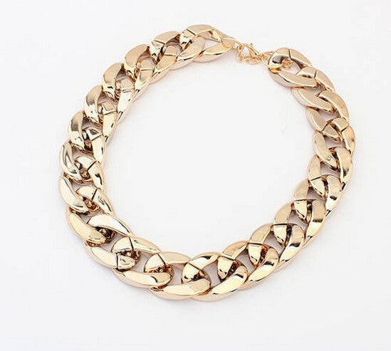 Gold Choker Necklace - Shevoila Jewelry & Clothing - 3