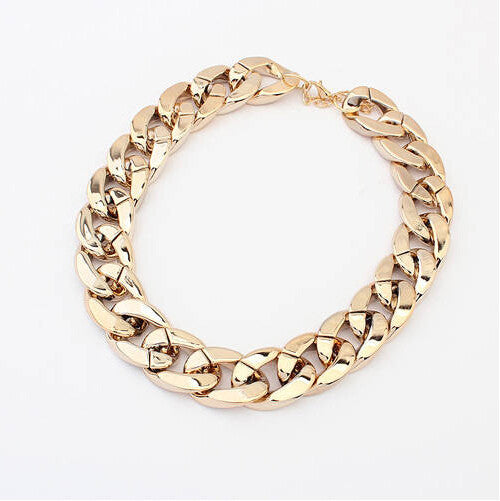 Gold Choker Necklace - Shevoila Jewelry & Clothing - 1