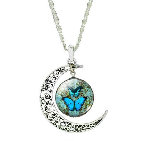 Butterfly Moon Necklace - Shevoila Jewelry & Clothing - 1
