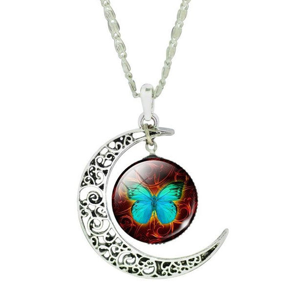 Butterfly Moon Necklace - Shevoila Jewelry & Clothing - 3
