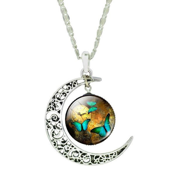 Butterfly Moon Necklace - Shevoila Jewelry & Clothing - 4