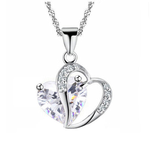 Silver Heart Necklace - Shevoila Jewelry & Clothing - 3