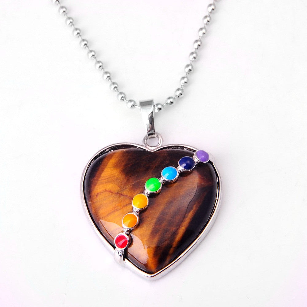 Natural Stone Heart Necklace - Shevoila Jewelry & Clothing - 5