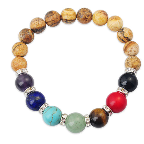 Gemstone Chakra Bracelets - Shevoila Jewelry & Clothing - 1