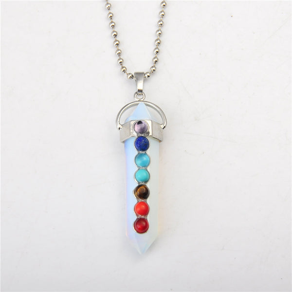 Crystal Chakra Necklace - Shevoila Jewelry & Clothing - 7