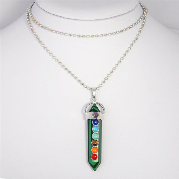 Crystal Chakra Necklace - Shevoila Jewelry & Clothing - 3