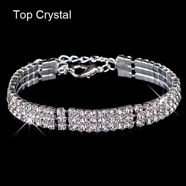 Gold & Silver Crystal Bracelet - Shevoila Jewelry & Clothing - 4