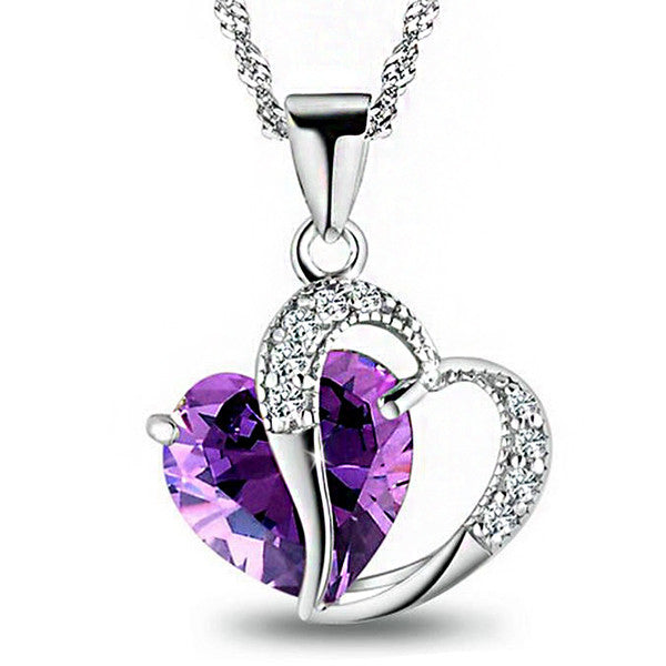 Silver Heart Necklace - Shevoila Jewelry & Clothing - 1