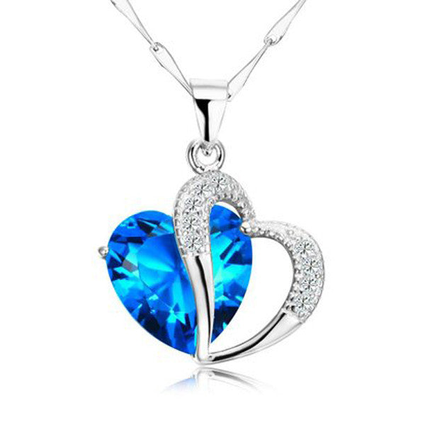 Silver Heart Necklace - Shevoila Jewelry & Clothing - 2
