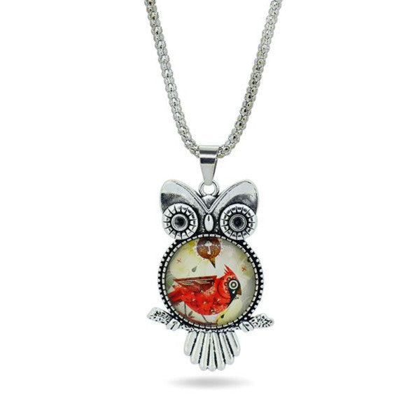 Owl Necklace Pendant - Shevoila Jewelry & Clothing - 2