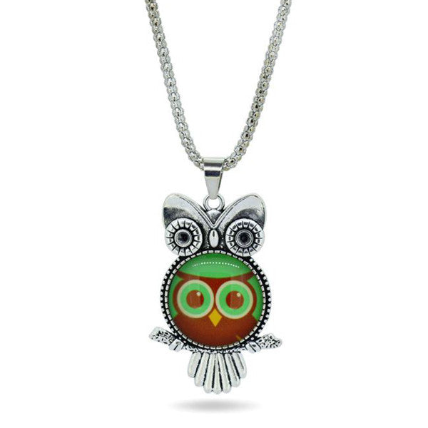 Owl Necklace Pendant - Shevoila Jewelry & Clothing - 5