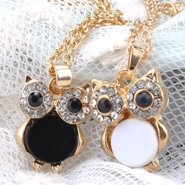 Gold Owl Pendant Necklace - Shevoila Jewelry & Clothing