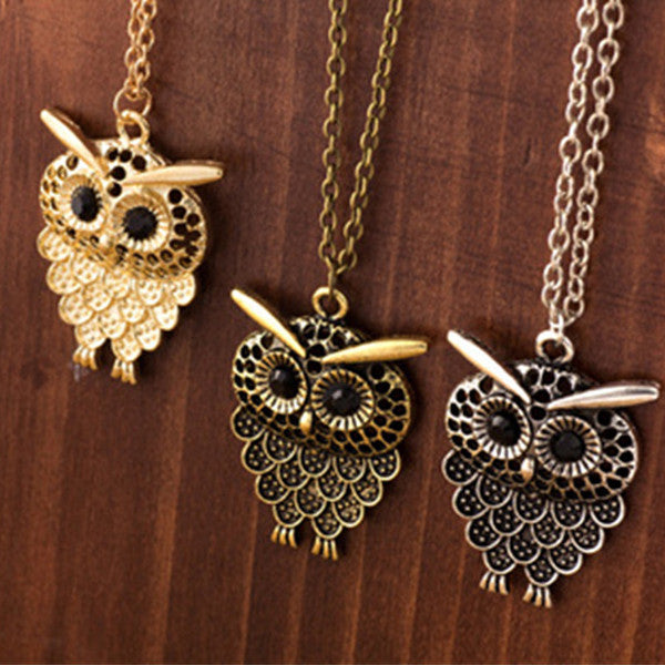 Retro Owl Necklace - Shevoila Jewelry & Clothing