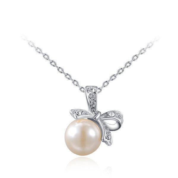 Ribbon Pearl Necklace - Shevoila Jewelry & Clothing - 2
