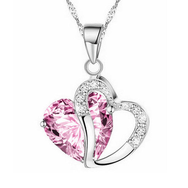 Silver Heart Necklace - Shevoila Jewelry & Clothing - 6