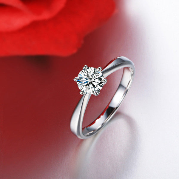 Silver Diamond Ring - Shevoila Jewelry & Clothing - 1