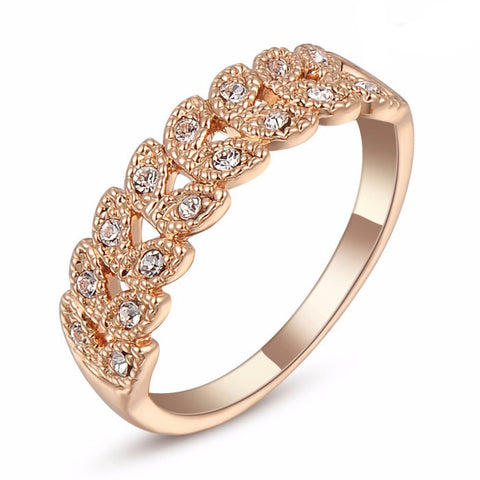Gold Swarovski Ring - Shevoila Jewelry & Clothing - 1