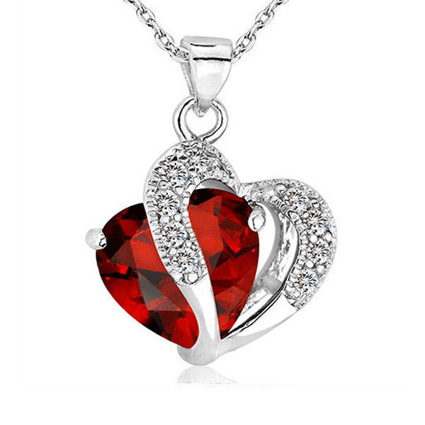 Silver Heart Necklace - Shevoila Jewelry & Clothing - 4
