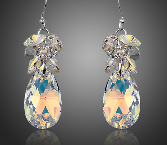 Austrian Water Drop Earrings