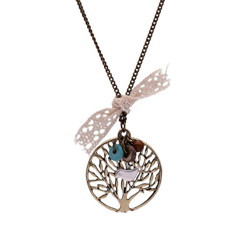 Vintage Life Tree Necklace - Shevoila Jewelry & Clothing - 1