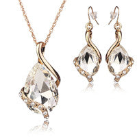 Gold Water Drop Gemstone Jewelry Set - Shevoila Jewelry & Clothing - 4