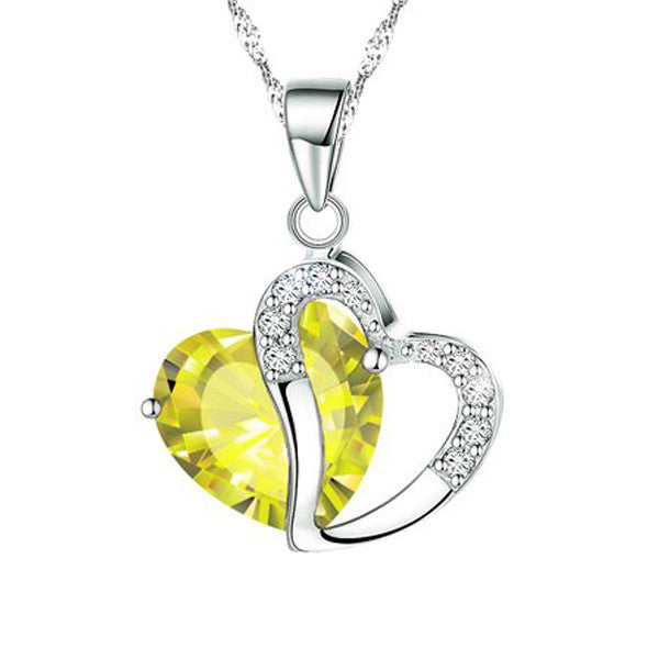 Silver Heart Necklace - Shevoila Jewelry & Clothing - 7