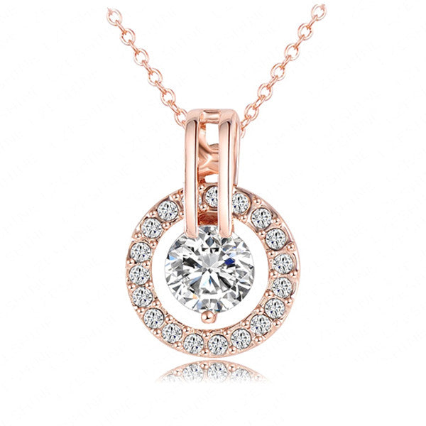 Rose Gold & Diamond Pendant - Shevoila Jewelry & Clothing - 1