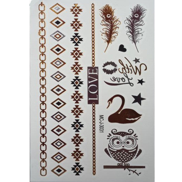 Flash Tattoos Gold/Silver - Shevoila Jewelry & Clothing - 3