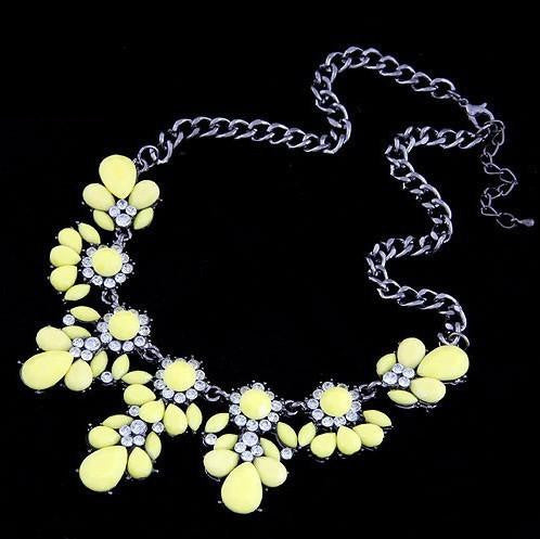 Austrian Crystals Flower Necklace - Shevoila Jewelry & Clothing - 11