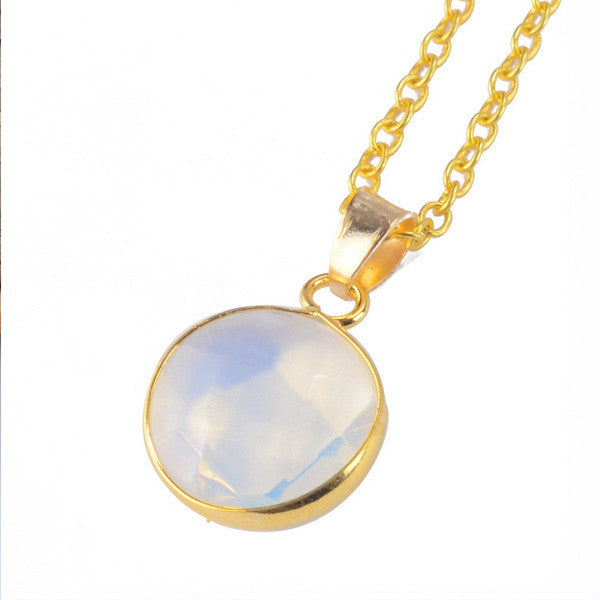 Circle Crystal Necklace - Shevoila Jewelry & Clothing - 4
