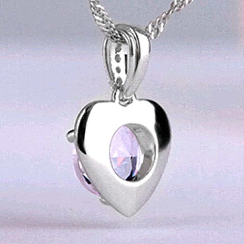 Silver Amethyst Necklace - Shevoila Jewelry & Clothing - 3