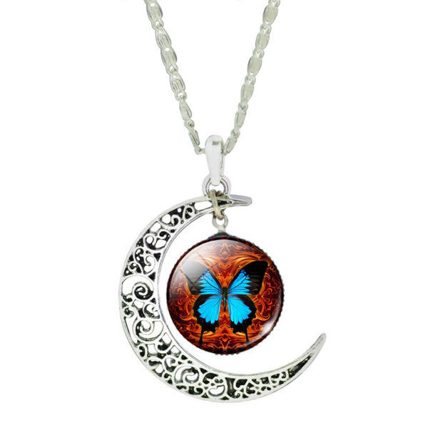 Butterfly Moon Necklace - Shevoila Jewelry & Clothing - 2