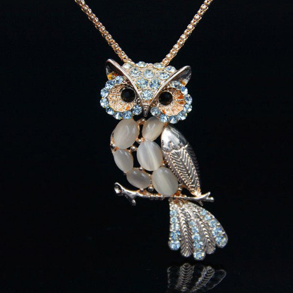 Rose Gold Owl Necklace - Shevoila Jewelry & Clothing