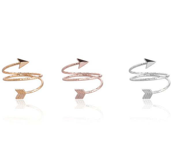 Looped Arrow Ring