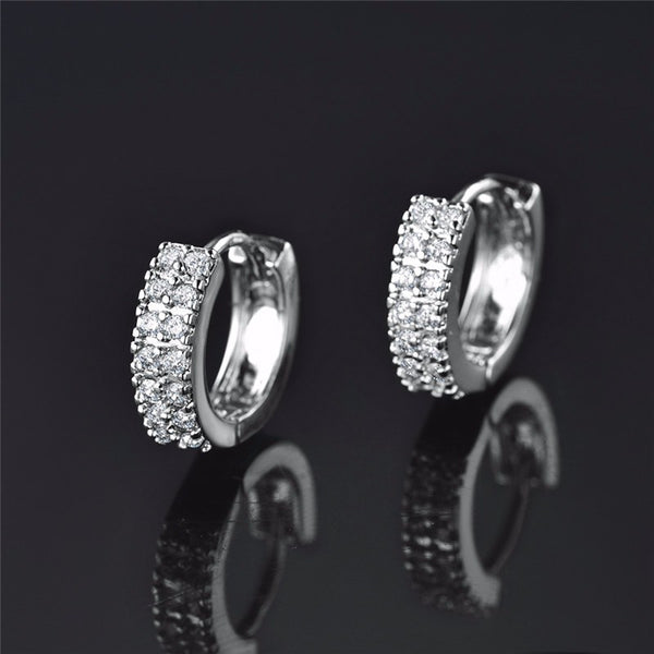 Infinity White Crystal Earring
