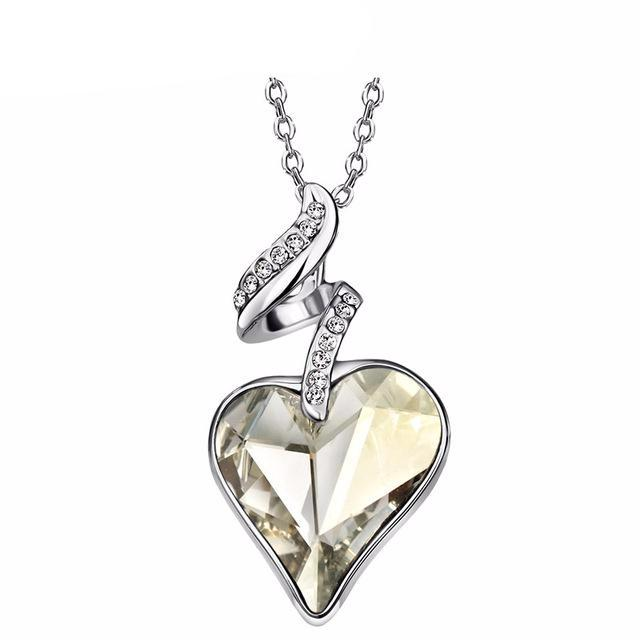 Austrian Crystal Four Color Heart Pendant