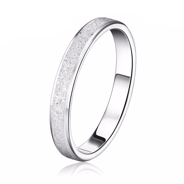 Frosting Surface Silver Color Ring