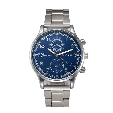 Blue Ray Glass Quartz Watch