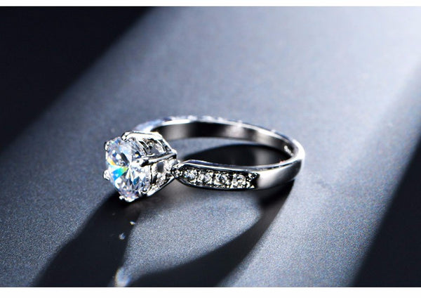 OVERSTOCK SUMMER SALE! Diamond & Silver/Gold Ring