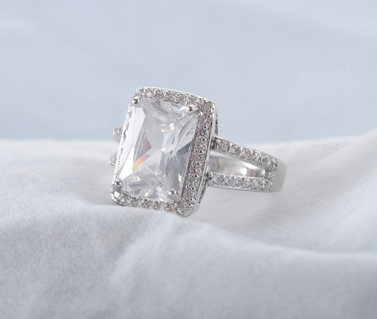 Rectangle Cut Princess Ring