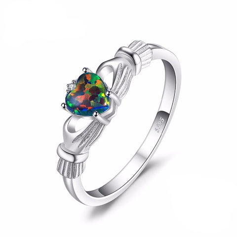 Black Fire Rainbow Ring