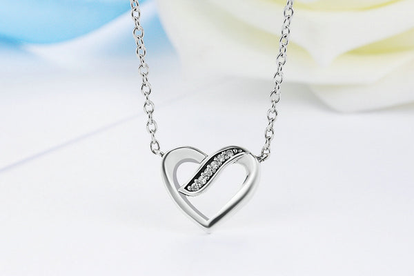 Silver Ribbons Of Love Pendant