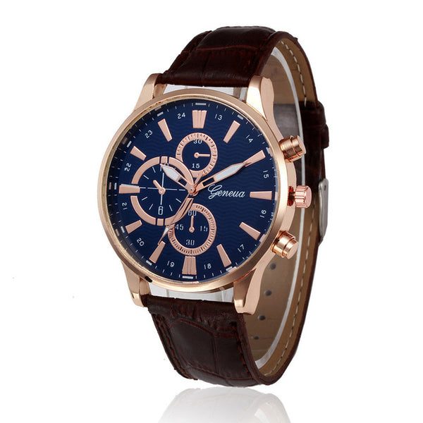 Jetliner Casual Leather Band Watch