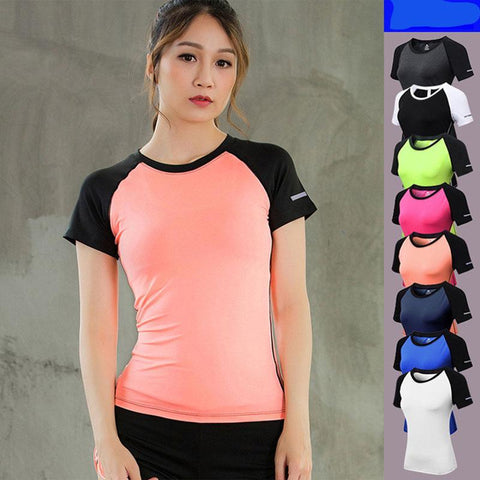 Patchwork Yoga Compression Top